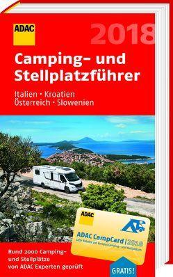 ADAC Camping-/Stellplatzführer Italien, Kroatien, Österreich, Slowenien 2018