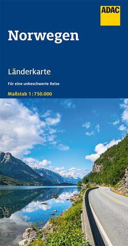 ADAC LänderKarte Norwegen 1:750 000