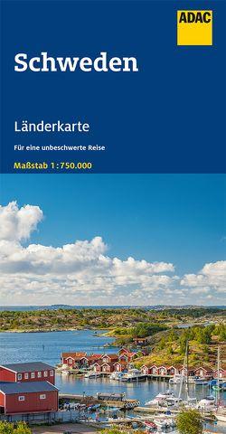 ADAC LänderKarte Schweden 1:750 000