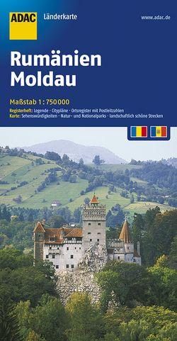 ADAC LänderKarte Rumänien, Moldau 1:750 000