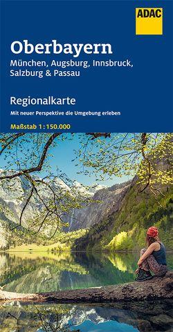 ADAC Regionalkarte Blatt 16 Oberbayern, München, Augsburg, Innsbruck