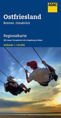 ADAC Regionalkarte Blatt 4 Ostfriesland, Bremen, Osnabrück 1:150 000