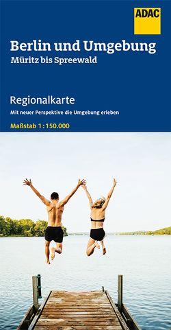 ADAC Regionalkarte Blatt 6 Berlin und Umgebung Müritz bis Spreeewald 1:150 000