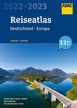 ADAC Reiseatlas Deutschland, Europa 2022/2023 1:200 000