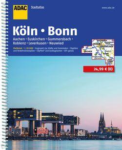 ADAC Stadtatlas Köln, Bonn, Aachen, Euskirchen, Gummersbach, Koblenz, Leverkusen