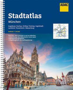 ADAC StadtAtlas München mit Augsburg, Dachau, Erding, Freising, Ingolstadt