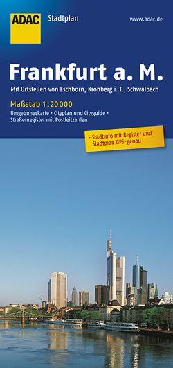 ADAC StadtPlan Frankfurt a.M. mit Ortsteilen von Eschborn, Kronberg i.T., Schwab