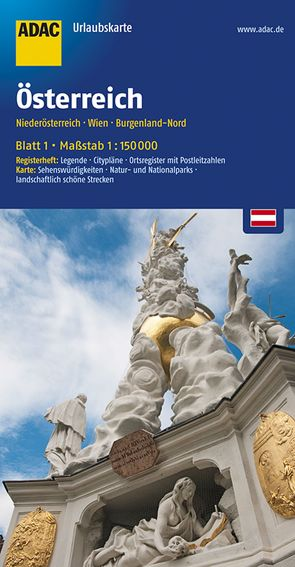 ADAC UrlaubsKarte Österreich Blatt 1 Niederösterreich 1:150 000