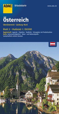 ADAC UrlaubsKarte Österreich Blatt 3 Oberösterreich, Salzburg-Nord 1:150 000