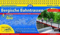 ADFC-Radausflugsführer Bergische Bahntrassen 1:50.000 praktische Spiralbindung, reiß- und wetterfest, GPS-Track Download von Flesch,  Peter