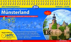 ADFC-Radausflugsführer Münsterland 1:50.000 praktische Spiralbindung, reiß- und wetterfest, GPS-Tracks Download von Steinbicker,  Otmar