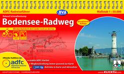 ADFC-Radreiseführer Bodensee-Radweg 1:50.000 praktische Spiralbindung, reiß- und wetterfest, GPS-Tracks Download von Schmellenkamp,  Roland