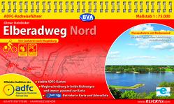 ADFC-Radreiseführer Elberadweg Nord 1:75.000 praktische Spiralbindung, reiß- und wetterfest, GPS-Tracks Download von Steinbicker,  Otmar