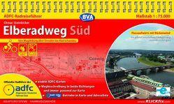 ADFC-Radreiseführer Elberadweg Süd 1:75.000 praktische Spiralbindung, reiß- und wetterfest, GPS-Tracks Download von Steinbicker,  Otmar