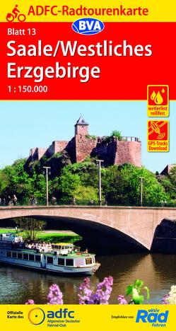 ADFC-Radtourenkarte 13 Saale /Westliches Erzgebirge 1:150.000, reiß- und wetterfest, GPS-Tracks Download