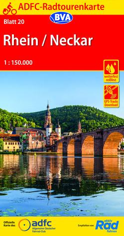 ADFC-Radtourenkarte 20 Rhein /Neckar 1:150.000, reiß- und wetterfest, GPS-Tracks Download