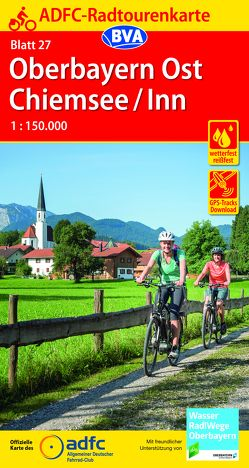 ADFC-Radtourenkarte 27 München/Oberbayern Ost 1:150.000, reiß- und wetterfest, GPS-Tracks Download