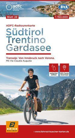 ADFC-Radtourenkarte 28 Alpencross I: Südtirol, Trentino, Gardasee 1:150.000, reiß- und wetterfest, GPS-Tracks Download