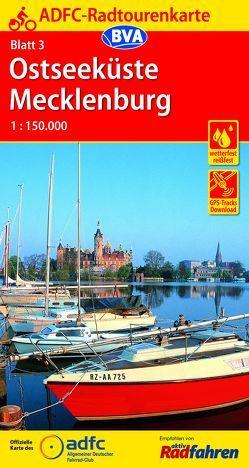 ADFC-Radtourenkarte 3 Ostseeküste Mecklenburg 1:150.000, reiß- und wetterfest, GPS-Tracks Download