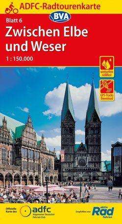 ADFC-Radtourenkarte 6 Zwischen Elbe und Weser 1:150.000, reiß- und wetterfest, GPS-Tracks Download