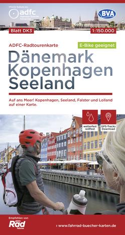 ADFC-Radtourenkarte DK 3 Dänemark/Kopenhagen/Seeland/Lolland, 1:150.000, reiß- und wetterfest, GPS-Tracks Download