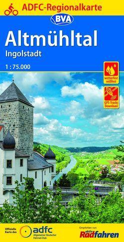 ADFC-Regionalkarte Altmühltal Ingolstadt, 1:75.000, reiß- und wetterfest, GPS-Tracks Download
