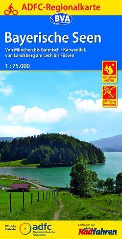 ADFC-Regionalkarte Bayerische Seen, 1:75.000, reiß- und wetterfest, GPS-Tracks Download