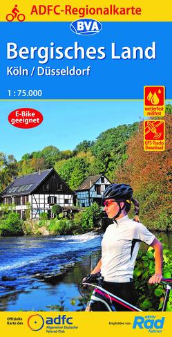 ADFC-Regionalkarte Bergisches Land Köln/Düsseldorf 1:75.000, reiß- und wetterfest, GPS-Tracks Download