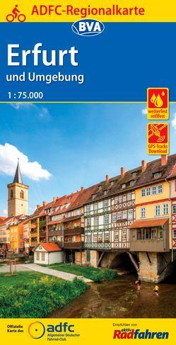 ADFC-Regionalkarte Erfurt und Umgebung, 1:75.000, reiß- und wetterfest, GPS-Tracks Download