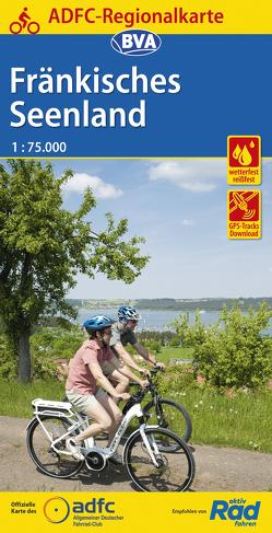 ADFC-Regionalkarte Fränkisches Seenland, 1:50.000, reiß- und wetterfest, GPS-Tracks Download