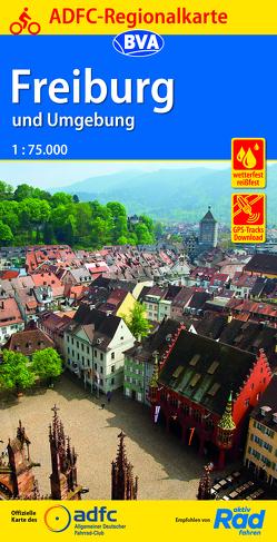 ADFC-Regionalkarte Freiburg und Umgebung 1:75.000, reiß- und wetterfest, GPS-Tracks Download