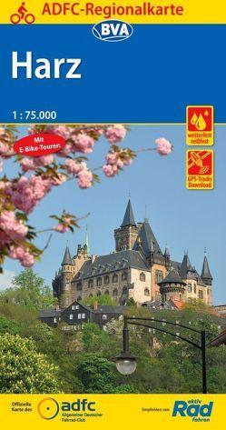 ADFC-Regionalkarte Harz, 1:75.000, reiß- und wetterfest, GPS-Tracks Download