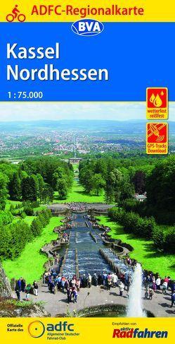 ADFC-Regionalkarte Kassel Nordhessen mit Tagestouren-Vorschlägen, 1:75.000, reiß- und wetterfest, GPS-Tracks Download
