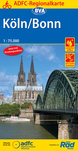 ADFC-Regionalkarte Köln/Bonn 1:75.000, reiß- und wetterfest, GPS-Tracks Download