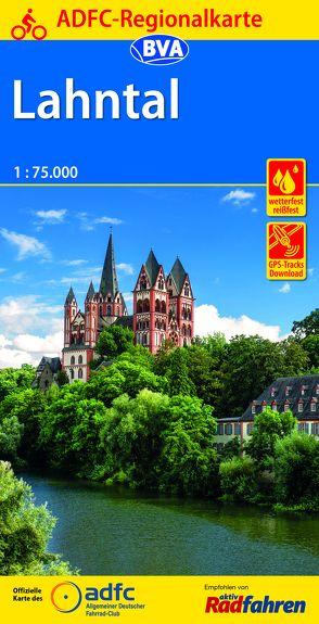 ADFC-Regionalkarte Lahntal 1:75.000, reiß- und wetterfest, GPS-Tracks Download