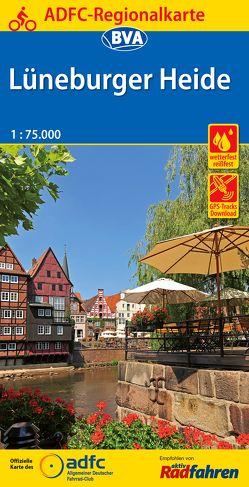 ADFC-Regionalkarte Lüneburger Heide mit Tagestouren-Vorschlägen, 1:75.000, reiß- und wetterfest, GPS-Tracks Download