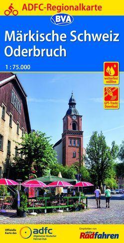 ADFC-Regionalkarte Märkische Schweiz Oderbruch,1:75.000, reiß- und wetterfest, GPS-Tracks Download