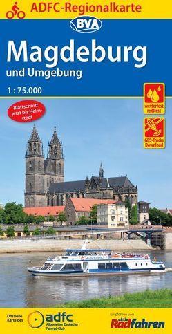 ADFC-Regionalkarte Magdeburg und Umgebung 1:75.000, reiß- und wetterfest, GPS-Tracks Download