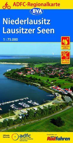 ADFC-Regionalkarte Niederlausitz Lausitzer Seen, 1:75.000, reiß- und wetterfest, GPS-Tracks Download