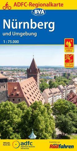 ADFC Regionalkarte Nürnberg und Umgebung mit Tagestouren-Vorschlägen, 1:75.000, reiß- und wetterfest, GPS-Tracks Download