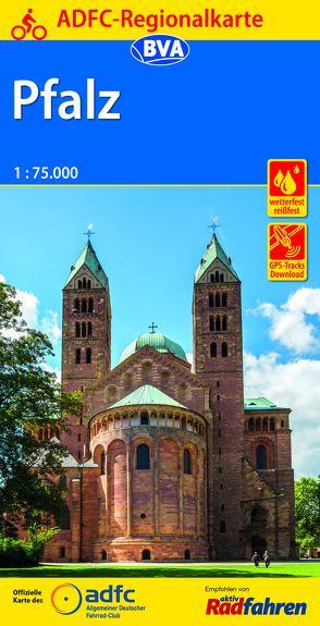 ADFC-Regionalkarte Pfalz mit Tagestouren-Vorschlägen, 1:75.000, reiß- und wetterfest, GPS-Tracks Download