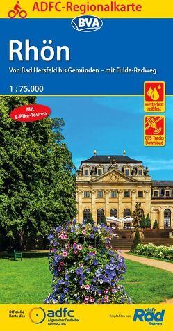 ADFC-Regionalkarte Rhön 1:75.000, reiß- und wetterfest, GPS-Tracks Download – Mit E-Bike Touren