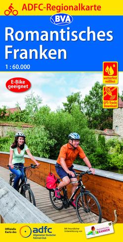 ADFC-Regionalkarte Romantisches Franken, 1:60.000, reiß- und wetterfest, GPS-Tracks Download