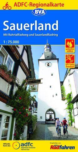 ADFC-Regionalkarte Sauerland mit Tagestouren-Vorschlägen, 1:75.000, reiß- und wetterfest, GPS-Tracks Download