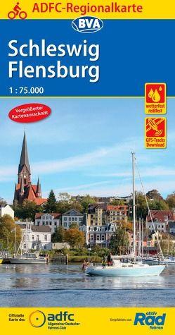 ADFC-Regionalkarte Schleswig Flensburg 1:75.000, reiß- und wetterfest, GPS-Tracks Download