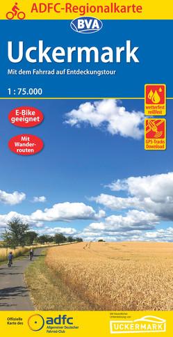 ADFC-Regionalkarte Uckermark, 1:75.000, reiß- und wetterfest, GPS-Tracks Download