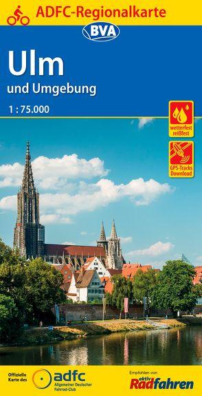 ADFC-Regionalkarte Ulm und Umgebung mit Tagestouren-Vorschlägen, 1:75.000, reiß- und wetterfest, GPS-Tracks Download