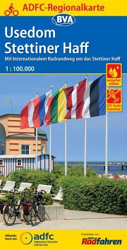 ADFC-Regionalkarte Usedom Stettiner Haff mit Tagestouren-Vorschlägen, 1:100.000, reiß- und wetterfest, GPS-Tracks Download