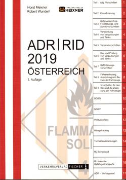 ADR / RID 2019 Österreich von Meixner,  Horst, Wunderl,  Robert