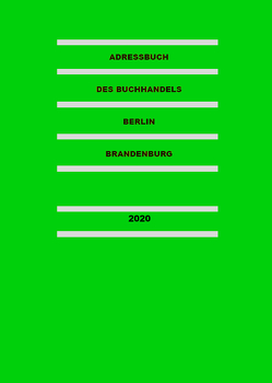 Adressbuch des Buchhandels Berlin-Brandenburg 2020 von Thomas,  Fabian